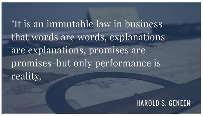 Harold L Geneen Quote